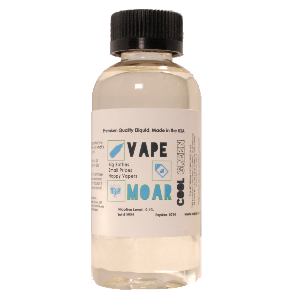 Cool Green E-liquid By Vape Moar Review